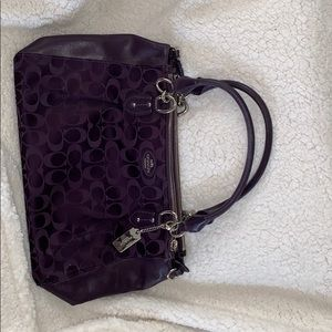 Plum coach purse